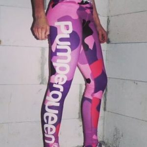 Pumperqueen, camouflage Leggings in Pink, sehr sexy und eng anliegend, perfekte beinform